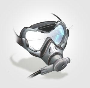 projet - diplome - creapole - 2005 - masque - plongée - sketch - rough - vivien - durisotti