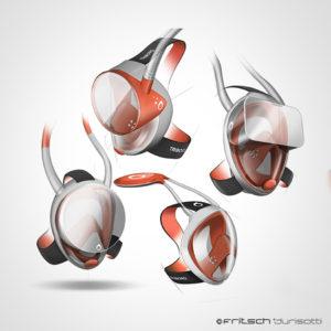 masque - easybreath - decathlon - 2013 - recherches - sketchs - roughs - vivien - durisotti - fritsch-durisotti