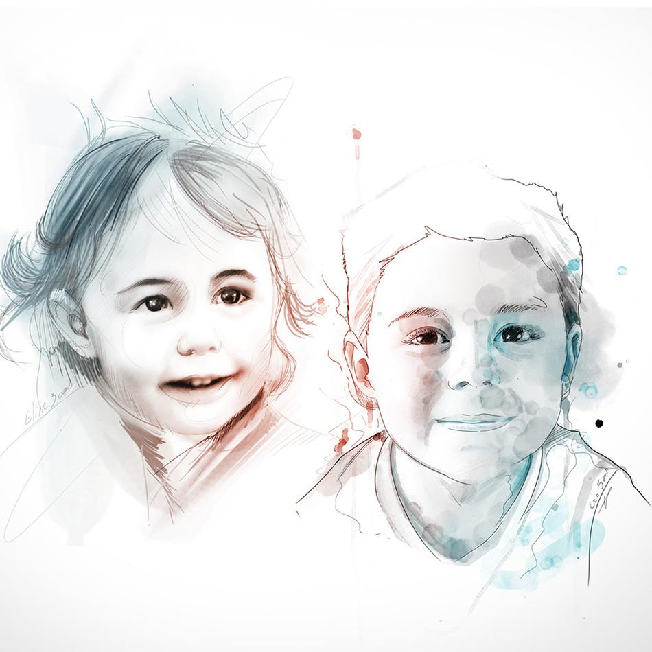 portrait - complet - illustrator - peinture - durisotti - vivien - design - experience - durisotti vivien