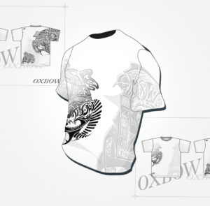 Concours oxbow - t-shirt - finaliste - recherches - graphisme - logo - ton - illustrator - sketch - roughs - vivien - durisotti - fritsch-durisotti