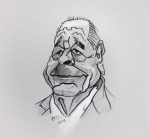 26 sept 2019 - Au revoir Mr J.Chirac - dessin - vivien - durisotti - design - experience - un - jour - un - dessin