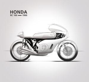 09 - novembre - Honda RC 166 -sketch pantone - dessin - vivien - durisotti - design - experience - un - jour - un - dessin