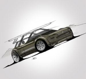 11 sept 2019 - Citroën Evasion - dessin - vivien - durisotti - design - experience - un - jour - un - dessin