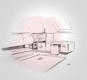 21 septembre - chambre Ezio work in progress - dessin - vivien - durisotti - design - experience - un - jour - un - dessin