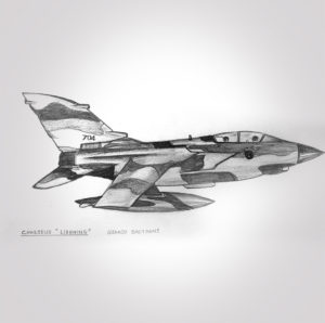 Dessin - fusain - papa - hommage - chasseur - avion - lighting - vivien - durisotti - design - experience