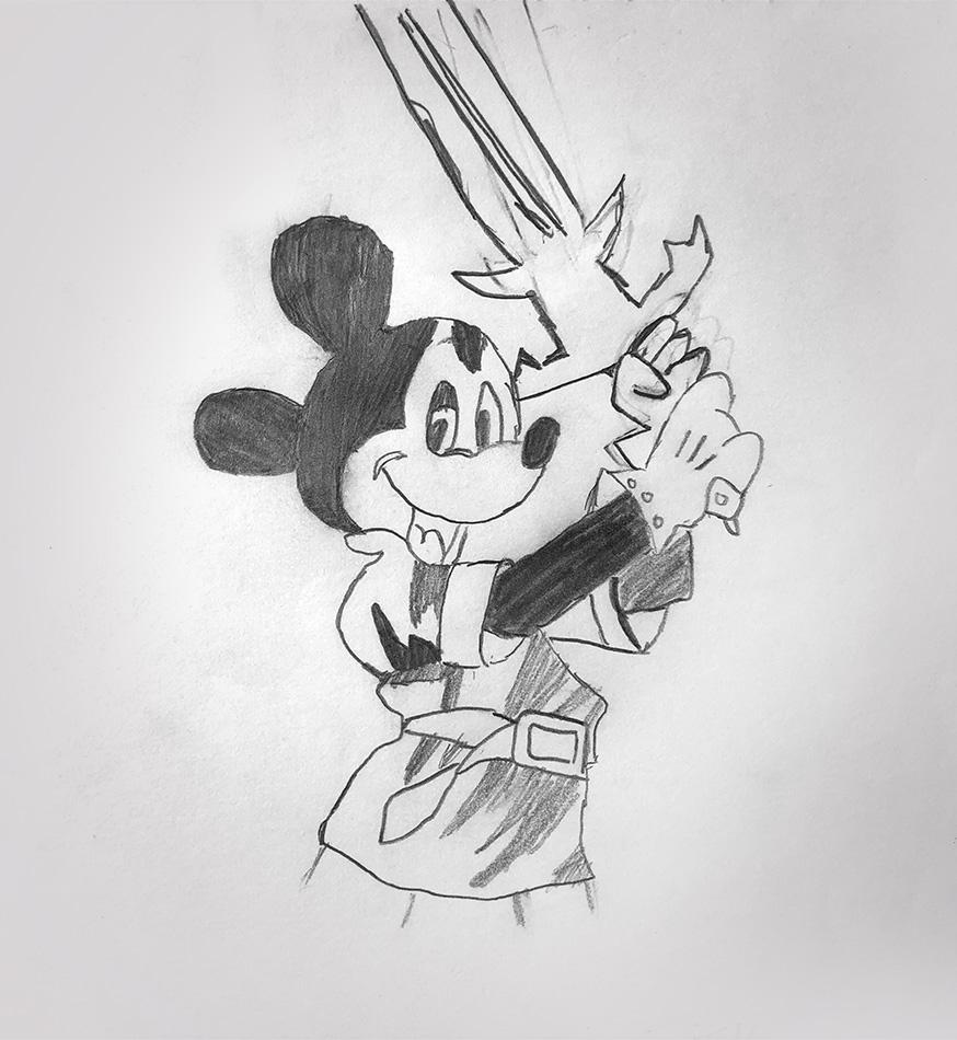dessins - enfants - children - draw - drawing - artwork - mickey - disney - crayons - feutres - dragonball