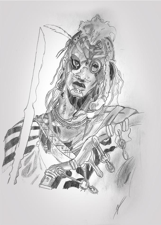 dessin - train - indigène - 2004 - tgv - crayon