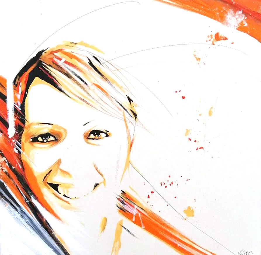 portrait - 2010 - Nathalie - peinture - huile - acrylique - durisotti - vivien - design - experience - durisotti vivien