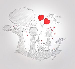 05 sept 2019 - 10 éme anniversaire de mariage - dessin - vivien - durisotti - design - experience - un - jour - un - dessin