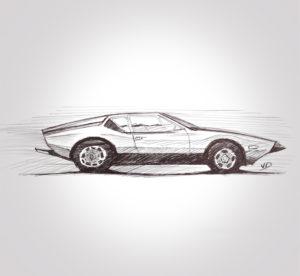 06 sept 2019 - Detomaso - Pantera - dessin - vivien - durisotti - design - experience - un - jour - un - dessin