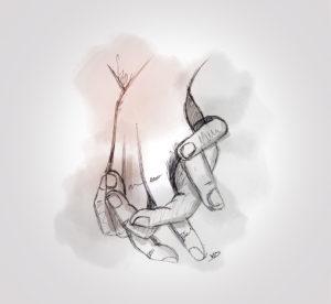 1 novembre - nuit difficile - je t'aime mon petit papa - dessin - vivien - durisotti - design - experience - un - jour - un - dessin