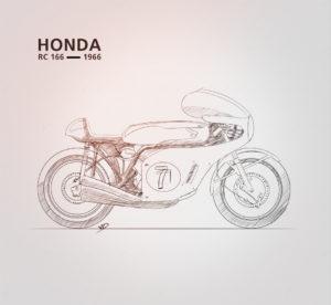 8 novembre 2019 - Honda RC 166 - étape01 - dessin - vivien - durisotti - design - experience - un - jour - un - dessin