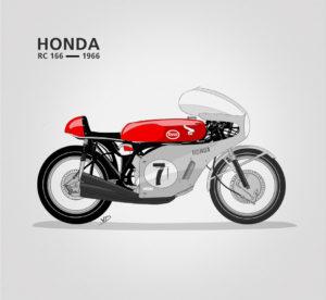 10 - novembre 2019 - Honda RC 166 - illustration vectorielle - dessin - vivien - durisotti - design - experience - un - jour - un - dessin