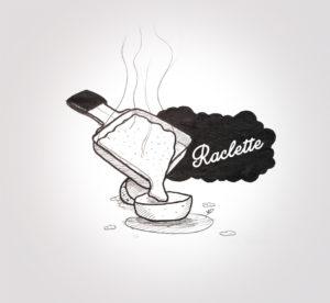 07 décembre 2019 - raclette party - dessin - vivien - durisotti - design - experience - un - jour - un - dessin