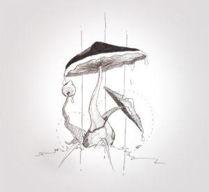09 décembre 2019 - champignon - dessin - vivien - durisotti - design - experience - un - jour - un - dessin