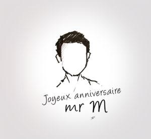 16 décembre 2019 - Joyeux anniversaire Mr M - dessin - vivien - durisotti - design - experience - un - jour - un - dessin