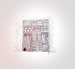 samedi 28 décembre - rangement finalisé - dessin - vivien - durisotti - design - experience - un - jour - un - dessin