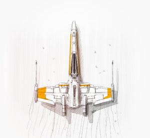 11 janvier 2020 - lego x-wing - recherches - stylos - feutres - pantones - vivien - durisotti - design - experience