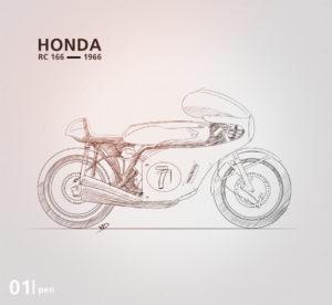 Honda RC 166 - 2019 - crayons- vivien - durisotti - design - experience