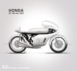 Honda RC 166 - 2019 - feutres - roughs - vivien - durisotti - design - experience