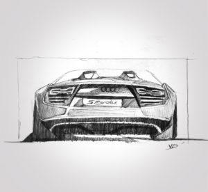 audi - spyder - sketch - 2019 - sketch - stylos - vivien - durisotti - design - experience