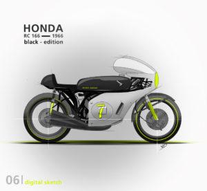 Honda RC 166 - 2019 - sketch - numérique - tablette - vivien - durisotti - design - experience