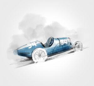 Bugatti 37 A - 1925 - dessin - vivien - durisotti - design - experience - un - jour - un - dessin - dessin - vivien - durisotti - design - experience - un - jour - un - dessin
