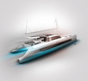 Catamarans - sketch - 2019 - recherches - stylos - feutres - pantones - vivien - durisotti - design - experience