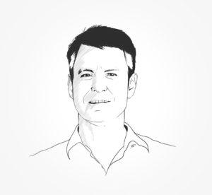 portrait - 2018 - Fil&Fog - Antoine - illustrator - noir au blanc - durisotti - design - experience