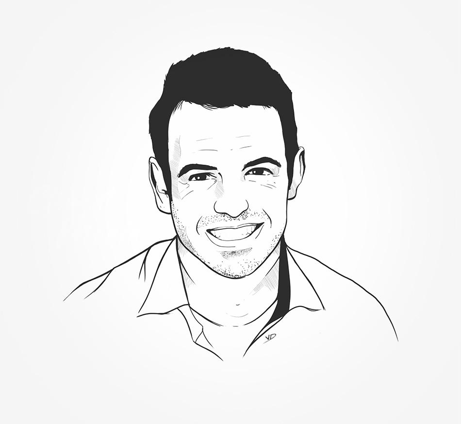 portrait - 2018 - Fil&Fog - Clément - illustrator - noir au blanc - durisotti - design - experience