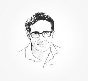 portrait - 2018 - Fil&Fog - vivien - illustrator - noir au blanc - durisotti - design - experience