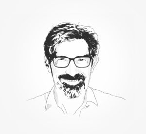 Fil-fog- illustration - illustrator - portrait - trame - dessin - sketch - photoshop