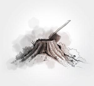 4 avril 2020 - 18 ème jour - en mode bucheron - dessin - vivien - durisotti - design - experience - dessin - vivien - durisotti - design - experience