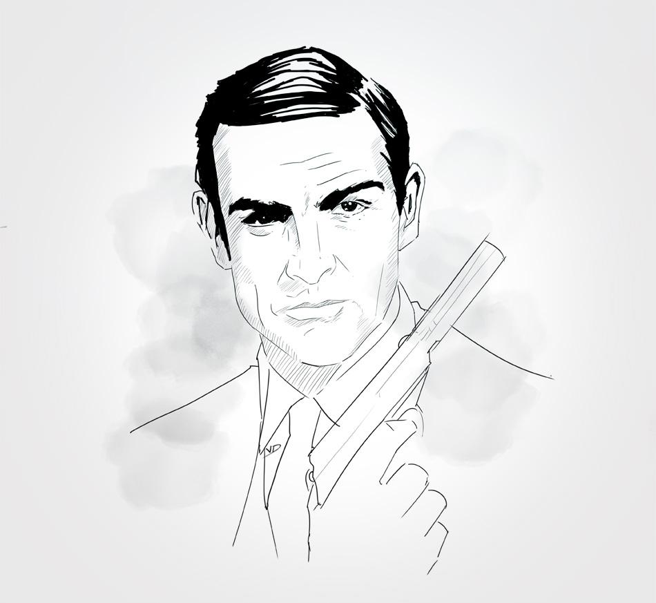 31 octobre - au revoir Mr Sean Connery 1930 - 2020 - dessin - vivien - durisotti - design - experience - un - jour - un - dessin - dessin - vivien - durisotti - design - experience - un - jour - un - dessin
