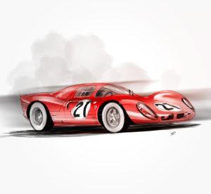 07 février 2021 - Ferrari 330 P4 - 1967 - durisotti - design - experience - un - jour - un - dessin - dessin - vivien - durisotti - design - experience - un - jour - un - dessin