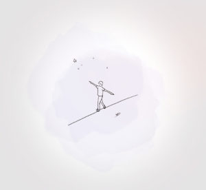 6 juin 2021 - funambule !!! - durisotti - design - experience - un - jour - un - dessin - dessin - vivien - durisotti - design - experience - un - jour - un - dessin