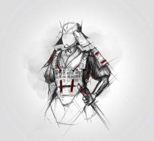 14 avril 2020 - 27 ème jour - en mode samuraï - dessin - vivien - durisotti - design - experience - dessin - vivien - durisotti - design - experience