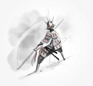 17 avril 2020 - 31 ème jour - samuraï n°2 - dessin - vivien - durisotti - design - experience