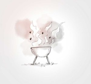 12 juillet - Grand BBQ en famile - dessin - vivien - durisotti - design - experience - un - jour - un - dessin