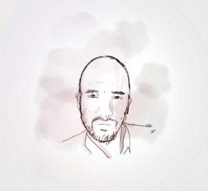25 juillet - retrouvaille avec Alex F - dessin - vivien - durisotti - design - experience - un - jour - un - dessin