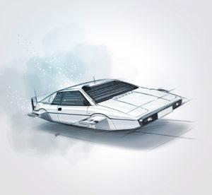 """04 août 2021 - Lotus Esprit S1 """"Wet Nellie"""" !!! - durisotti - design - experience - un - jour - un - dessin - dessin - vivien - durisotti - design - experience - un - jour - un - dessin"""