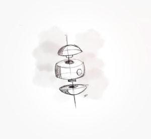 26 janvier 2021 - projet billard - éclaté - durisotti - design - experience - un - jour - un - dessin - dessin - vivien - durisotti - design - experience - un - jour - un - dessin