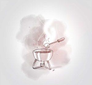 18 octobre - petite fondue - dessin - vivien - durisotti - design - experience - un - jour - un - dessin - dessin - vivien - durisotti - design - experience - un - jour - un - dessin