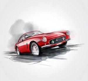 23 octobre - Ferrari 250 GT Berlinetta SWB 1959 - 1962 - dessin - vivien - durisotti - design - experience - un - jour - un - dessin - dessin - vivien - durisotti - design - experience - un - jour - un - dessin