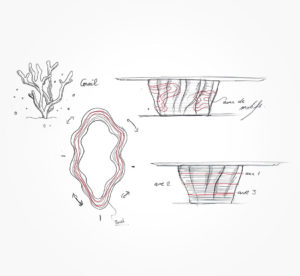 19 mars 2021 - Sketch - table Corail !!! - durisotti - design - experience - un - jour - un - dessin - dessin - vivien - durisotti - design - experience - un - jour - un - dessin