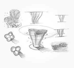 21 mars 2021 - Sketch - table Corail !!! - durisotti - design - experience - un - jour - un - dessin - dessin - vivien - durisotti - design - experience - un - jour - un - dessin