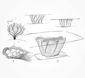 22 mars 2021 - Sketch - table Corail !!! - durisotti - design - experience - un - jour - un - dessin - dessin - vivien - durisotti - design - experience - un - jour - un - dessin