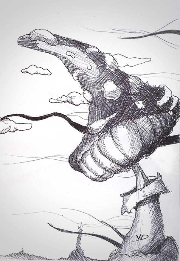 28 août 2019 - mushroom - dessin - vivien - durisotti - design - experience - un - jour - un - dessin