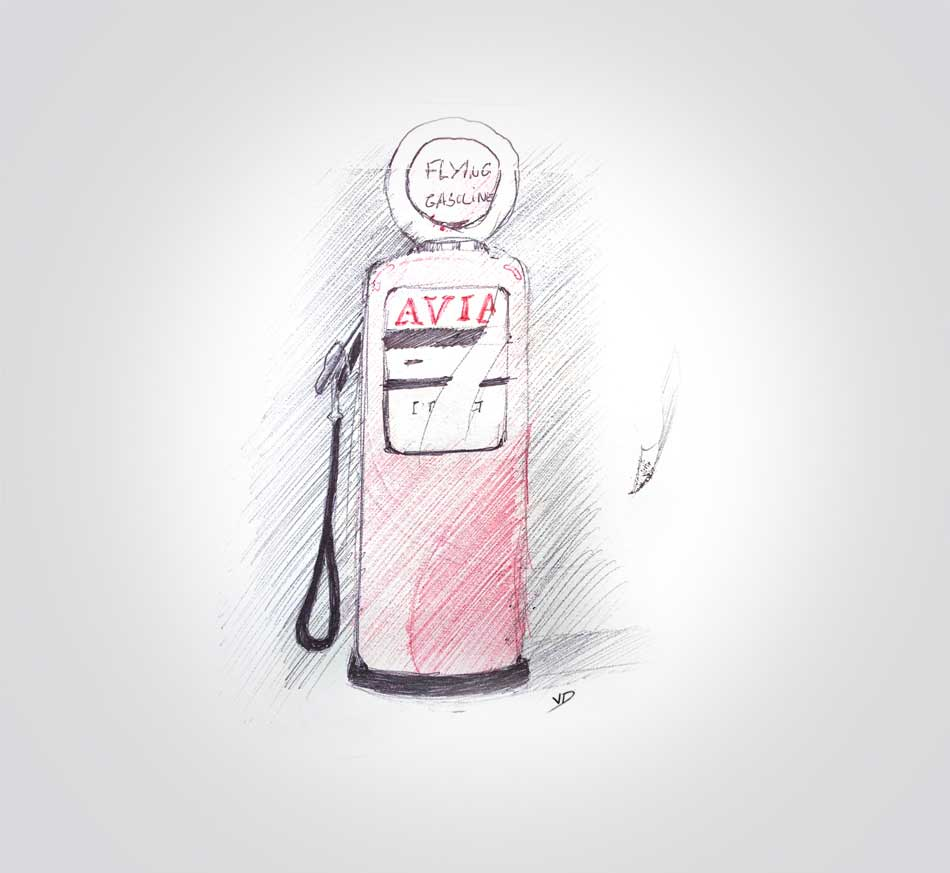 19 décembre - plus d'essence :( - dessin - vivien - durisotti - design - experience - un - jour - un - dessin