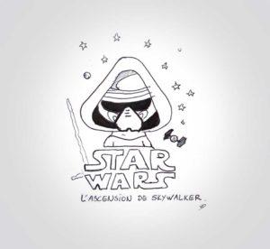 dimanche 22 décembre - dernier starwars - dessin - vivien - durisotti - design - experience - un - jour - un - dessin